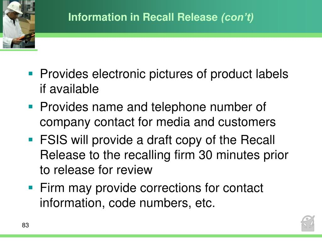 Information in Recall Release