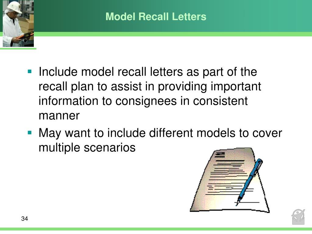 Model Recall Letters