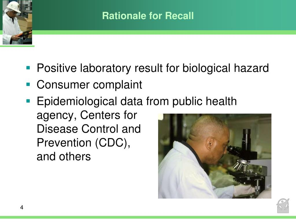 Rationale for Recall