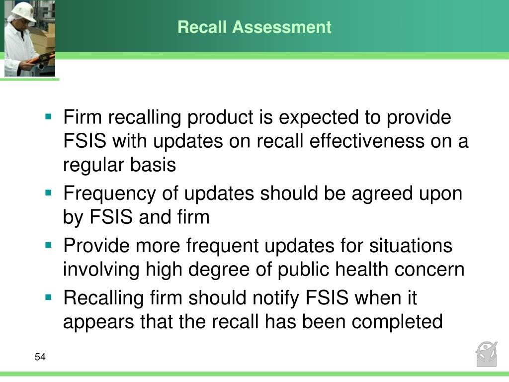 Recall Assessment