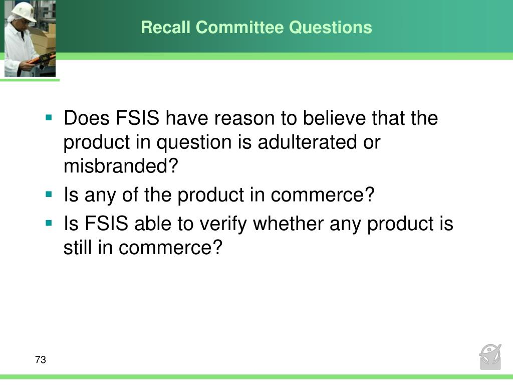 Recall Committee Questions