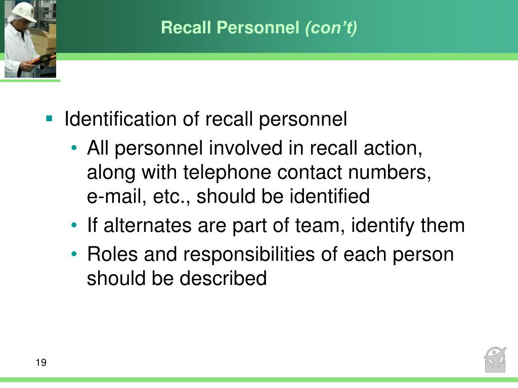 Recall Personnel
