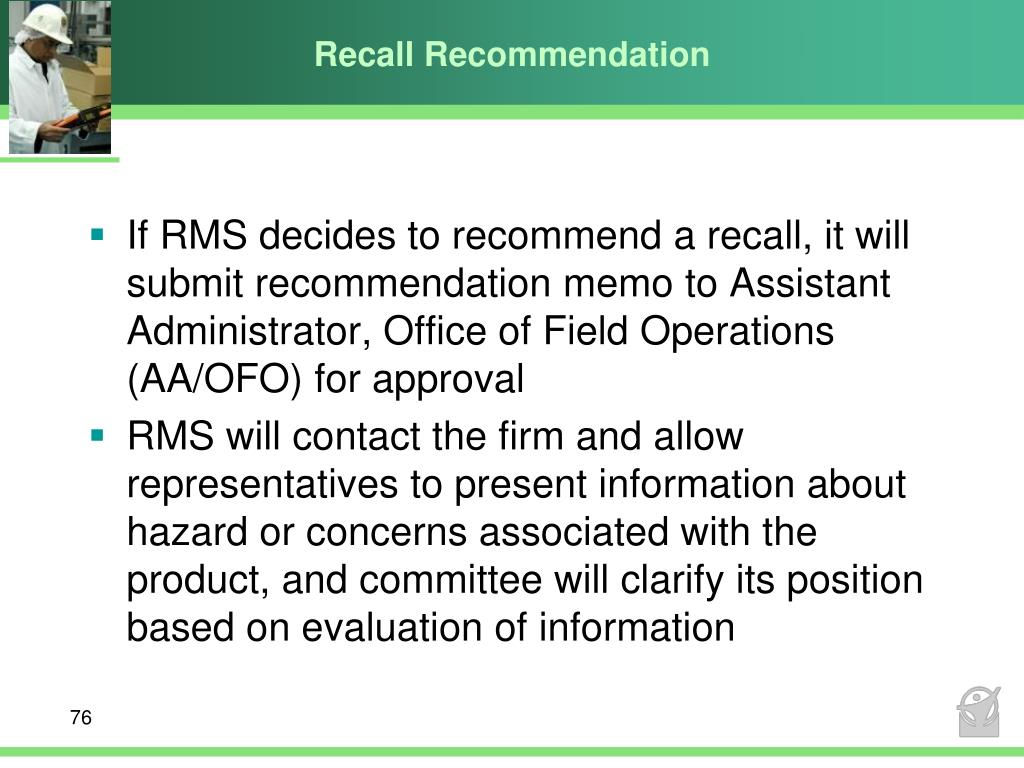 Recall Recommendation