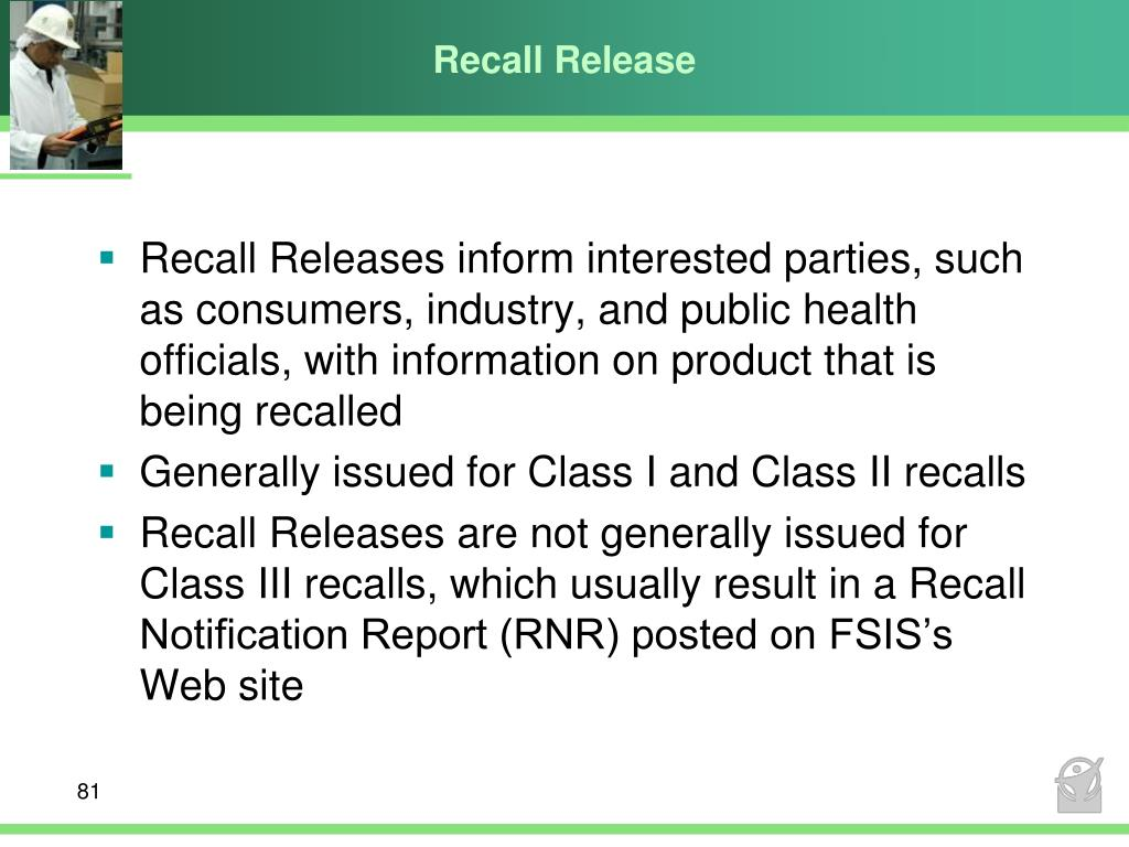 Recall Release