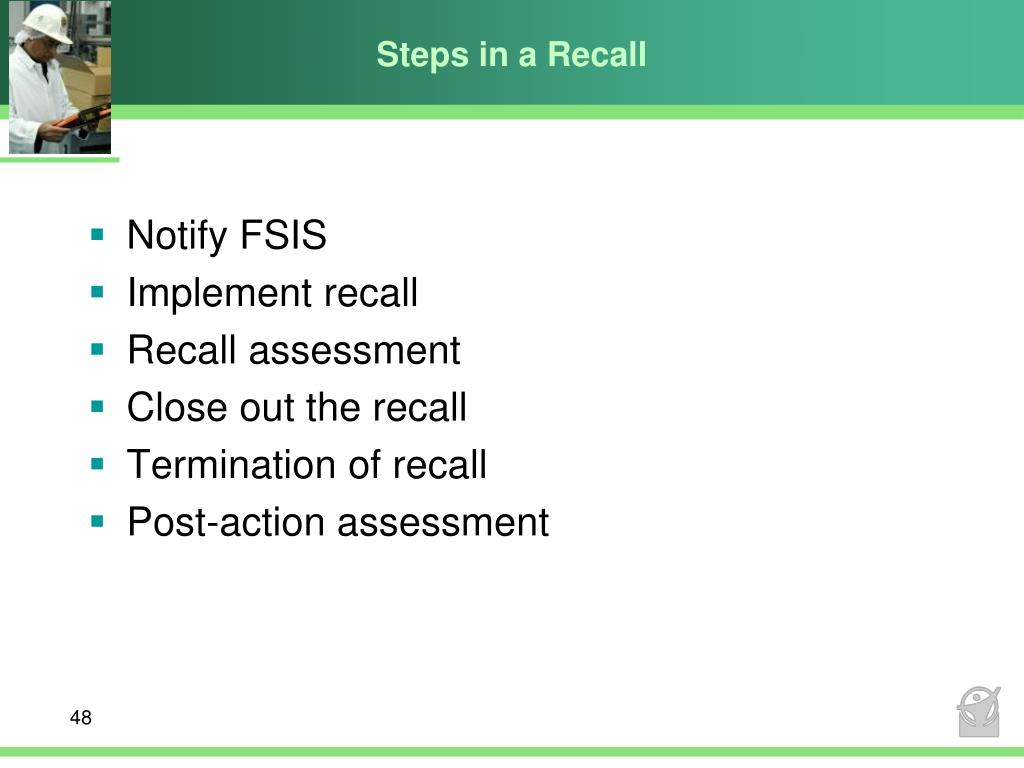 Steps in a Recall
