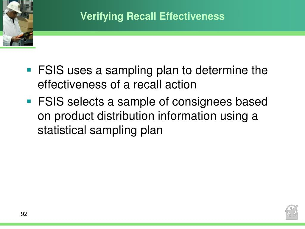 Verifying Recall Effectiveness