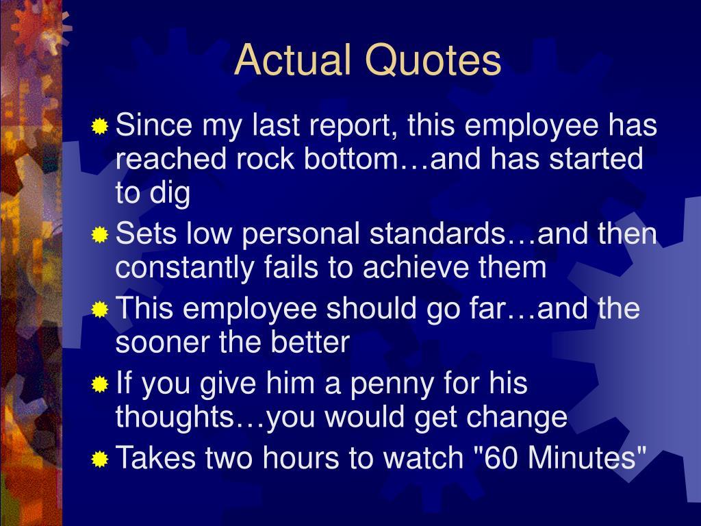 Actual Quotes