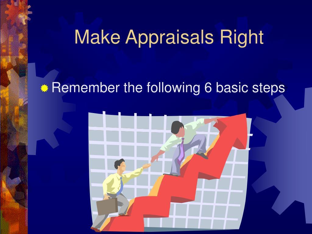 Make Appraisals Right