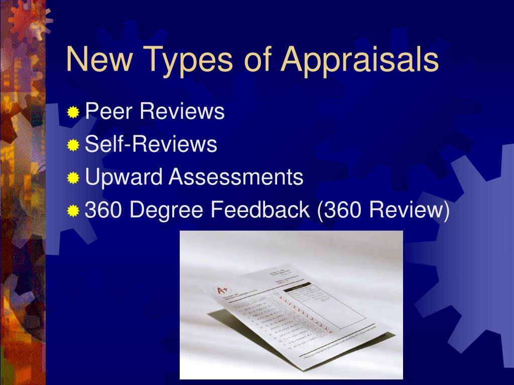 New Types of Appraisals
