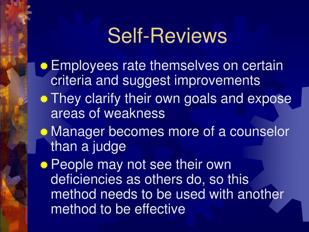 Self-Reviews