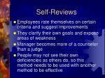 self reviews