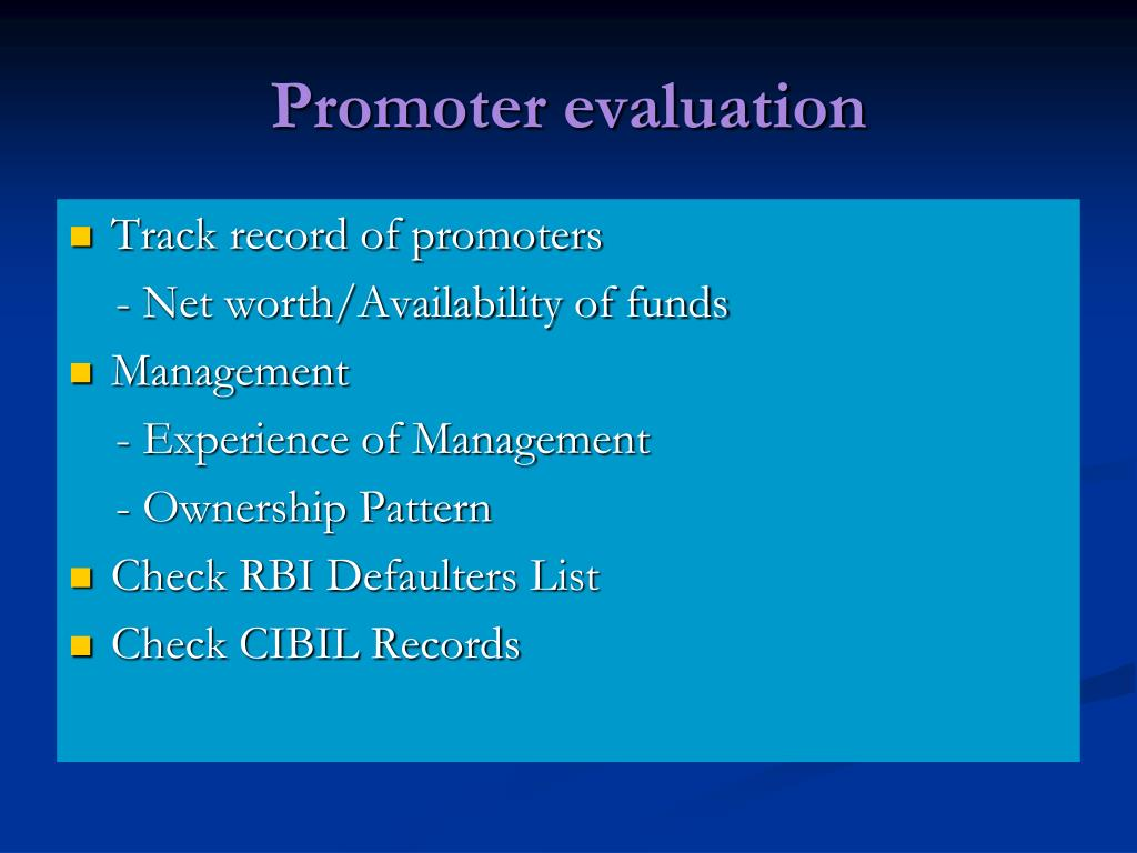 Promoter evaluation