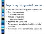 improving the appraisal process