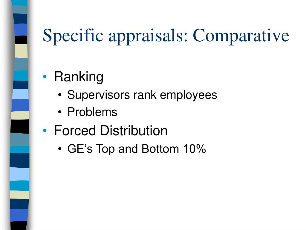 Specific appraisals: Comparative
