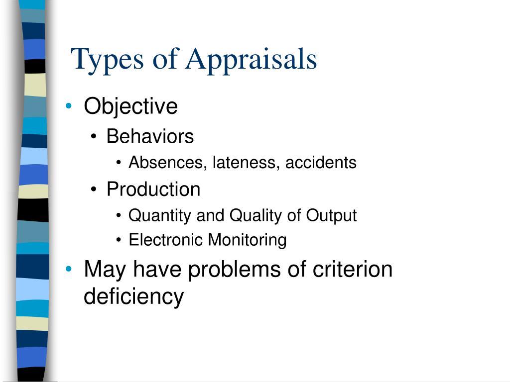 Types of Appraisals