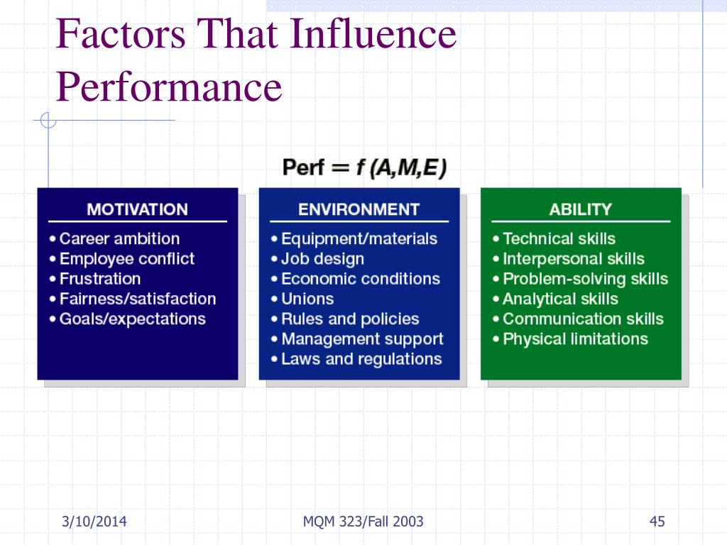 Factors That Influence Performance