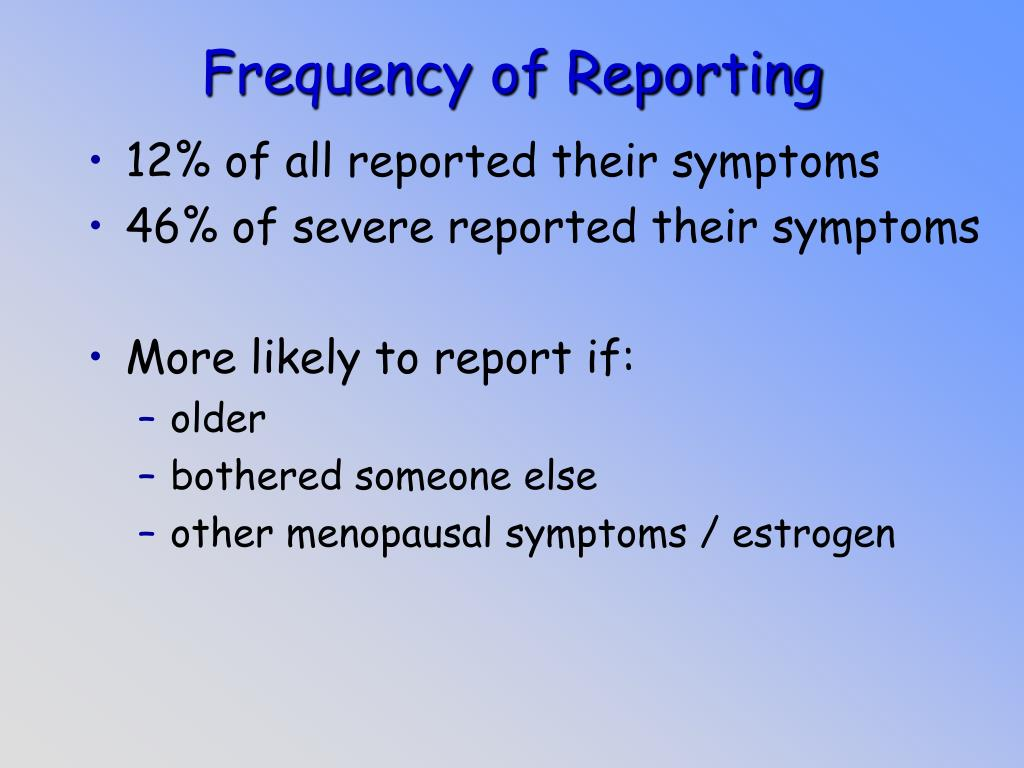 Frequency of Reporting