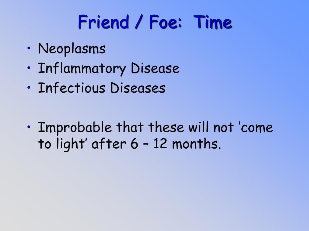 Friend / Foe:  Time