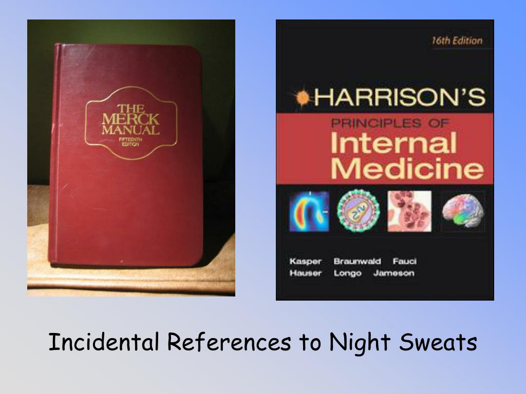 Incidental References to Night Sweats