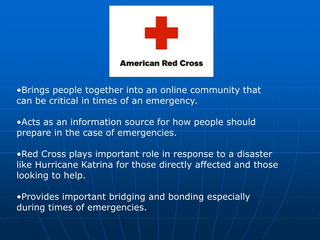 Brings people together into an online community that can be critical in times of an emergency.