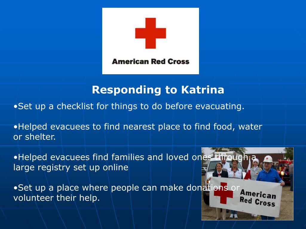 Responding to Katrina