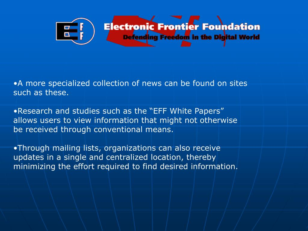 A more specialized collection of news can be found on sites such as these.