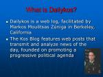 what is dailykos