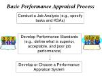 basic performance appraisal process