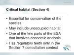 critical habitat section 4