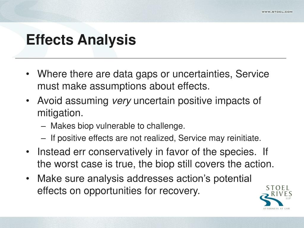 Effects Analysis