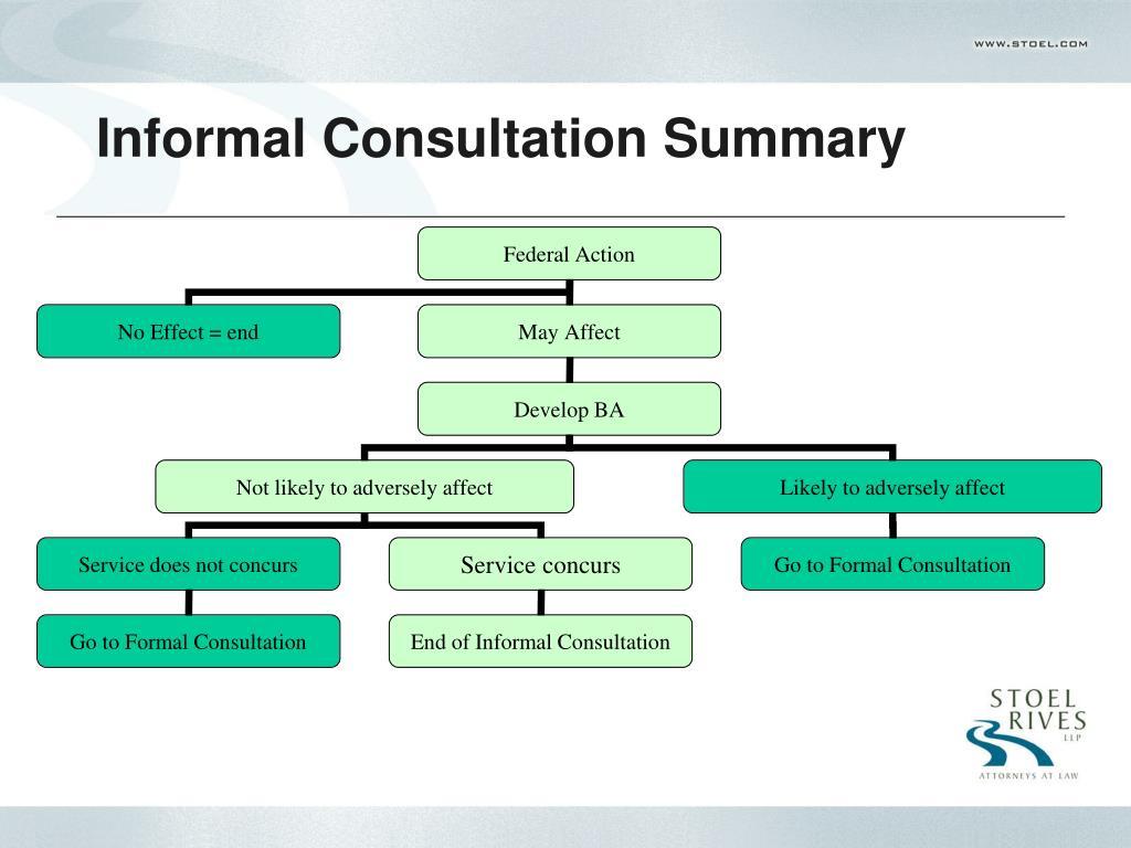 Informal Consultation Summary