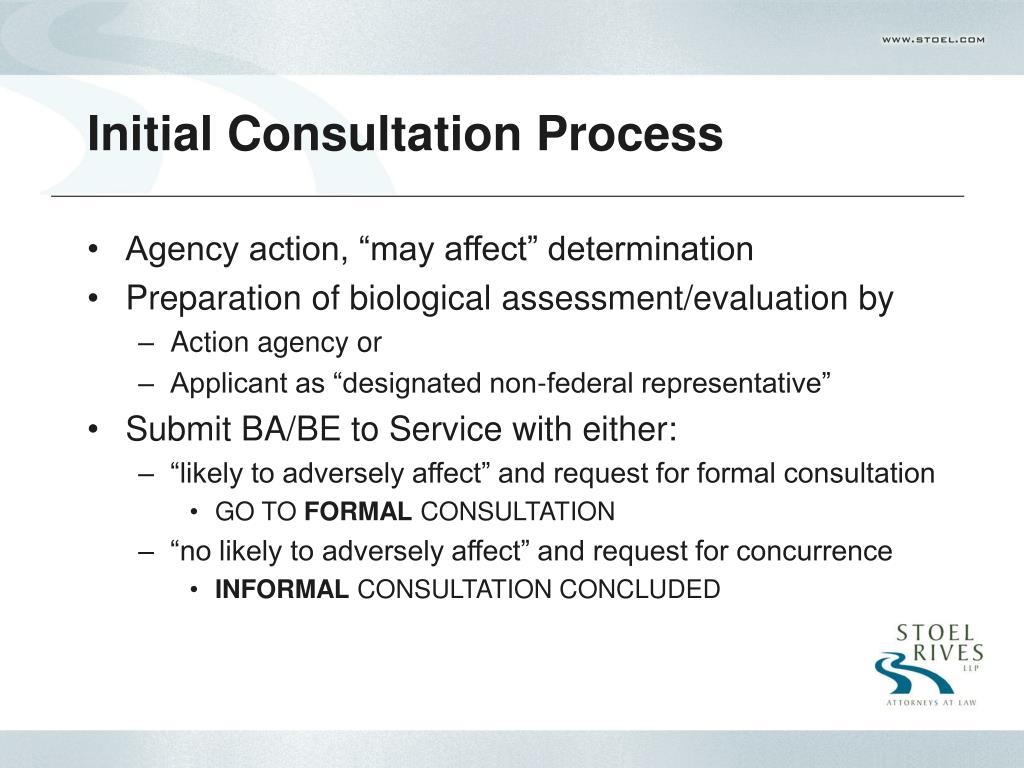 Initial Consultation Process