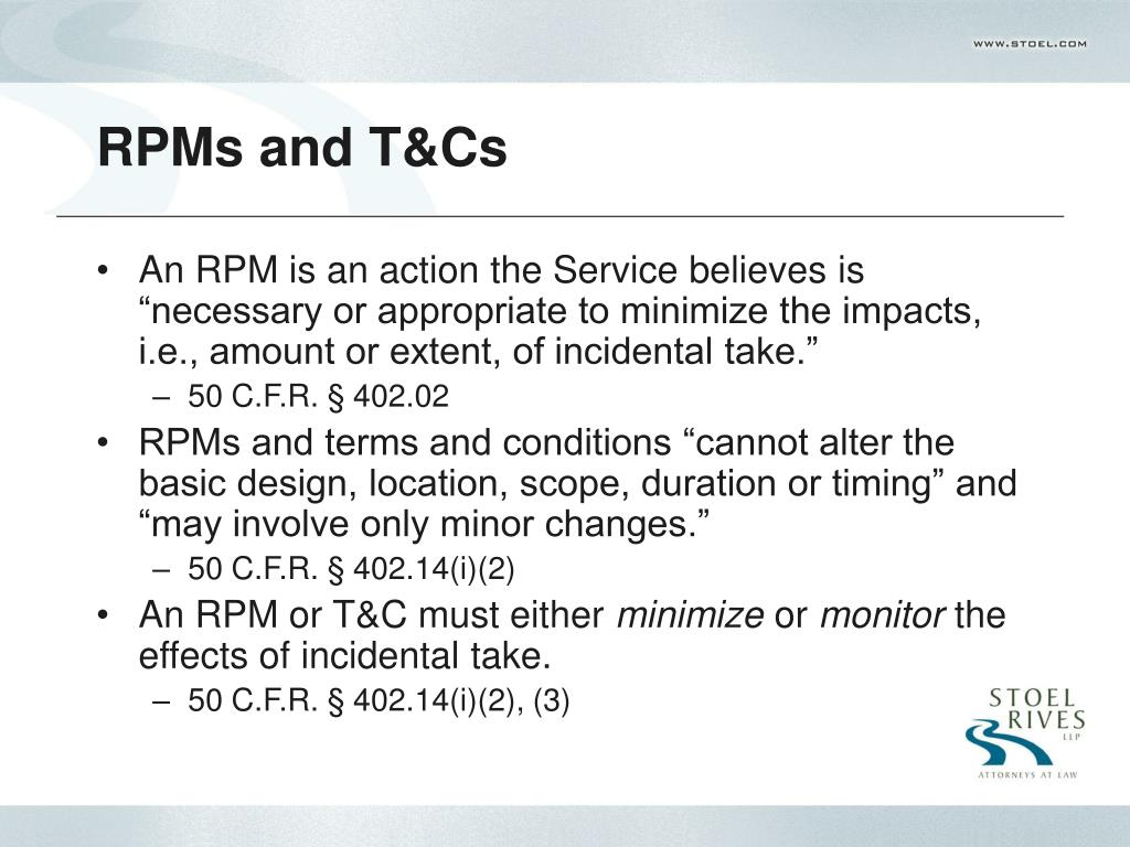 RPMs and T&Cs