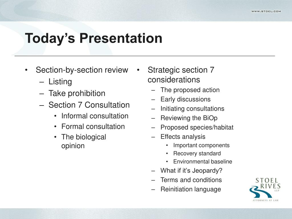 Section-by-section review
