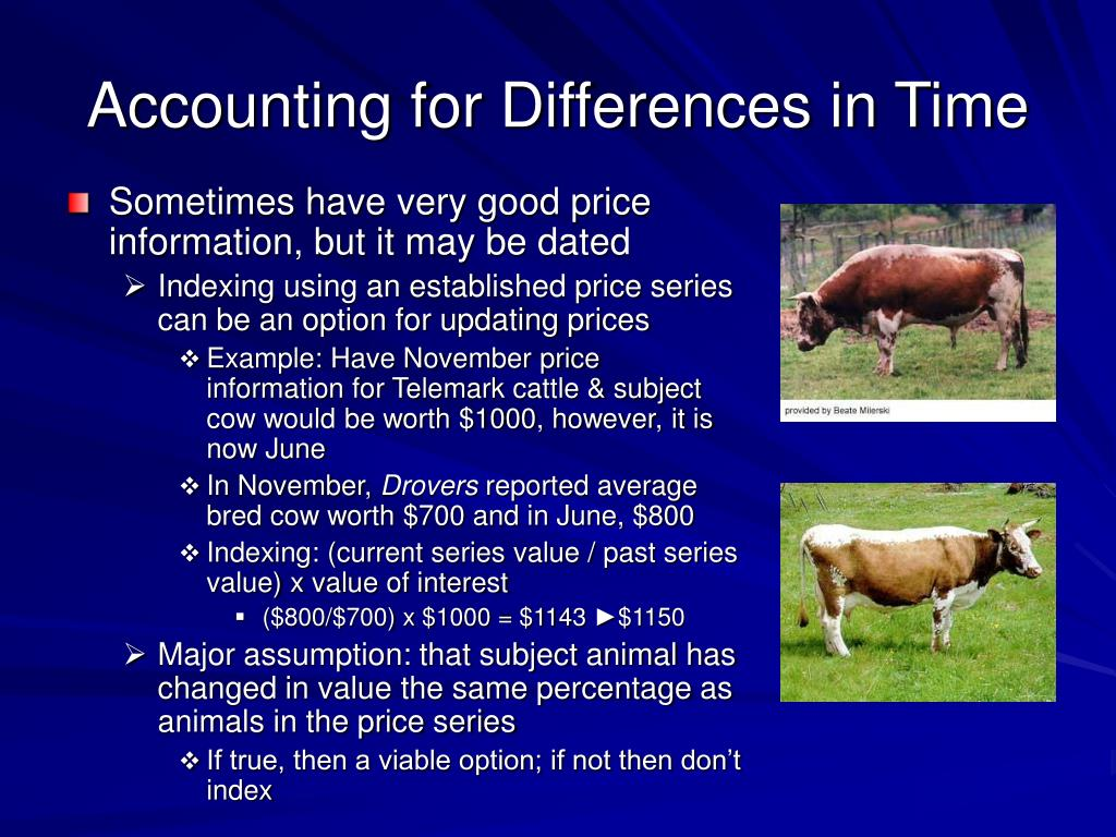 Accounting for Differences in Time