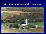 additional appraisal exercises