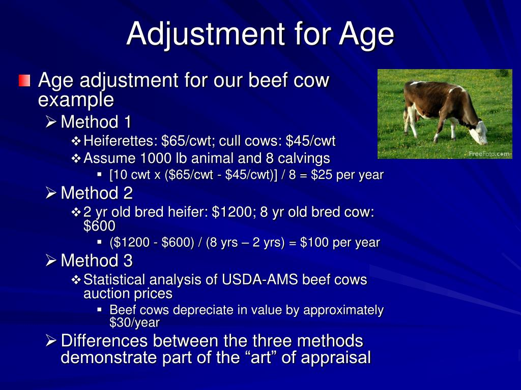 Adjustment for Age
