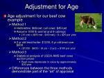 adjustment for age23