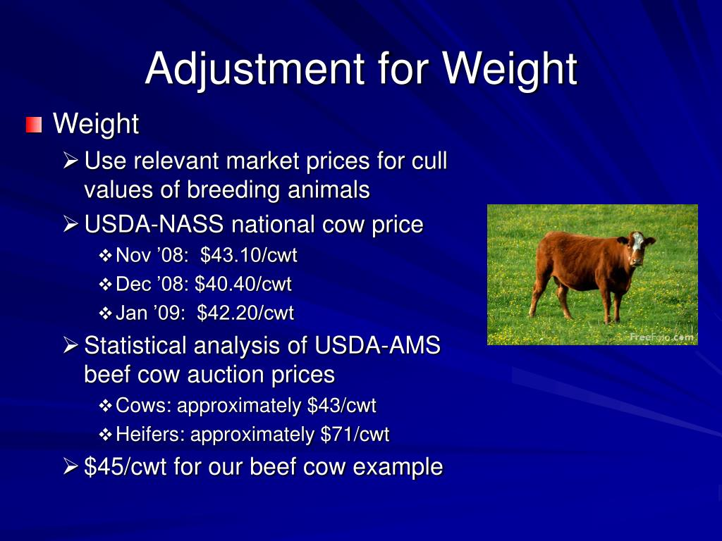 Adjustment for Weight