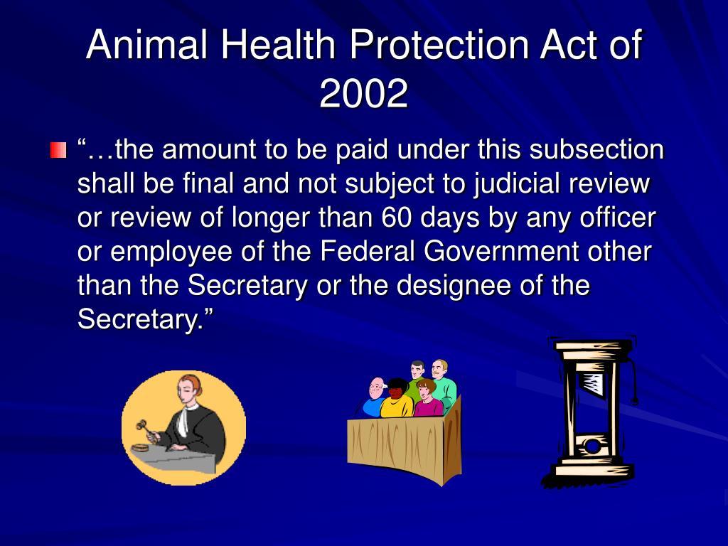 Animal Health Protection Act of 2002