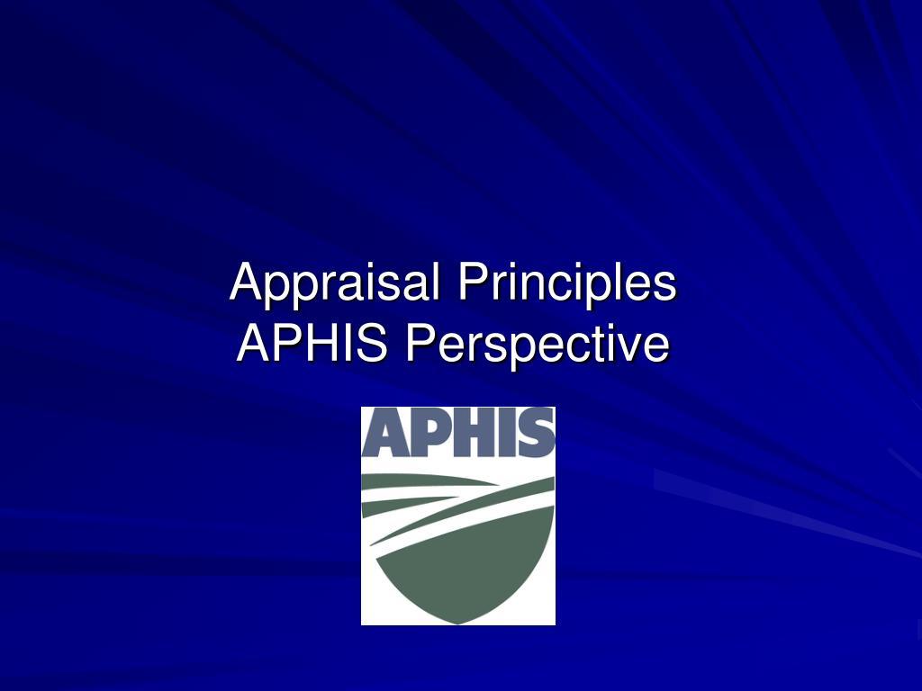 Appraisal Principles