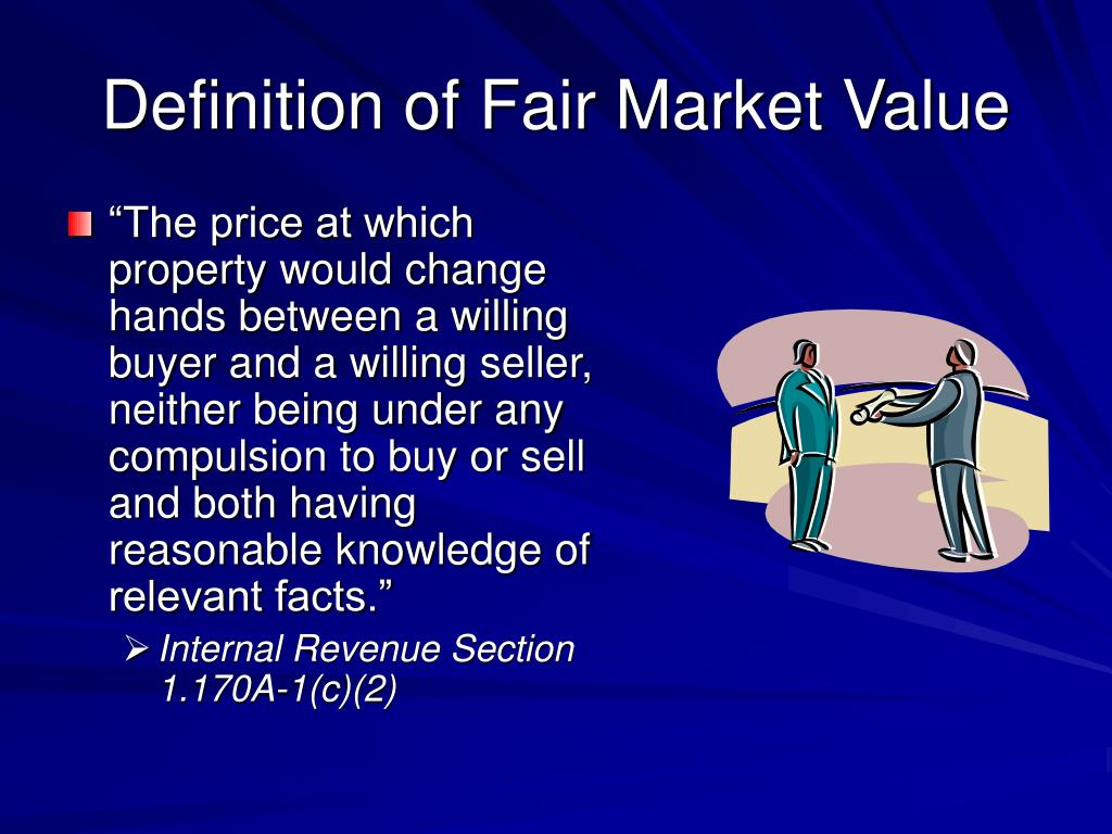 Definition of Fair Market Value