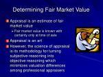 determining fair market value