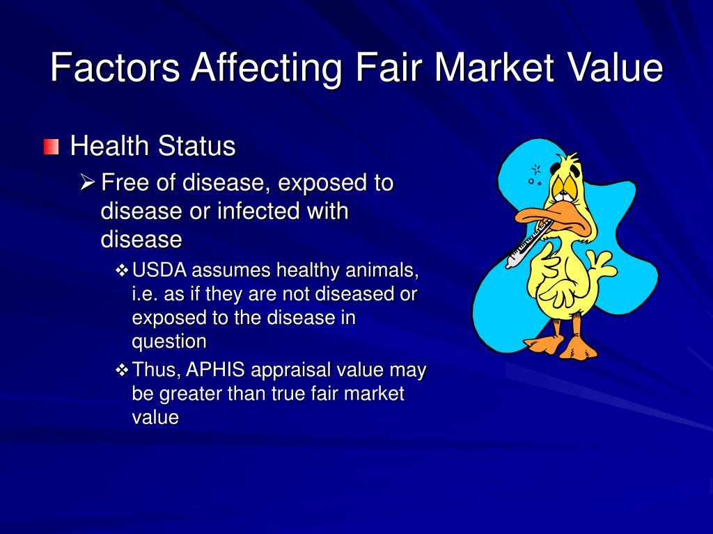 Factors Affecting Fair Market Value