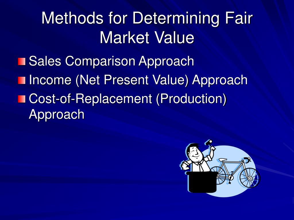 Methods for Determining Fair Market Value