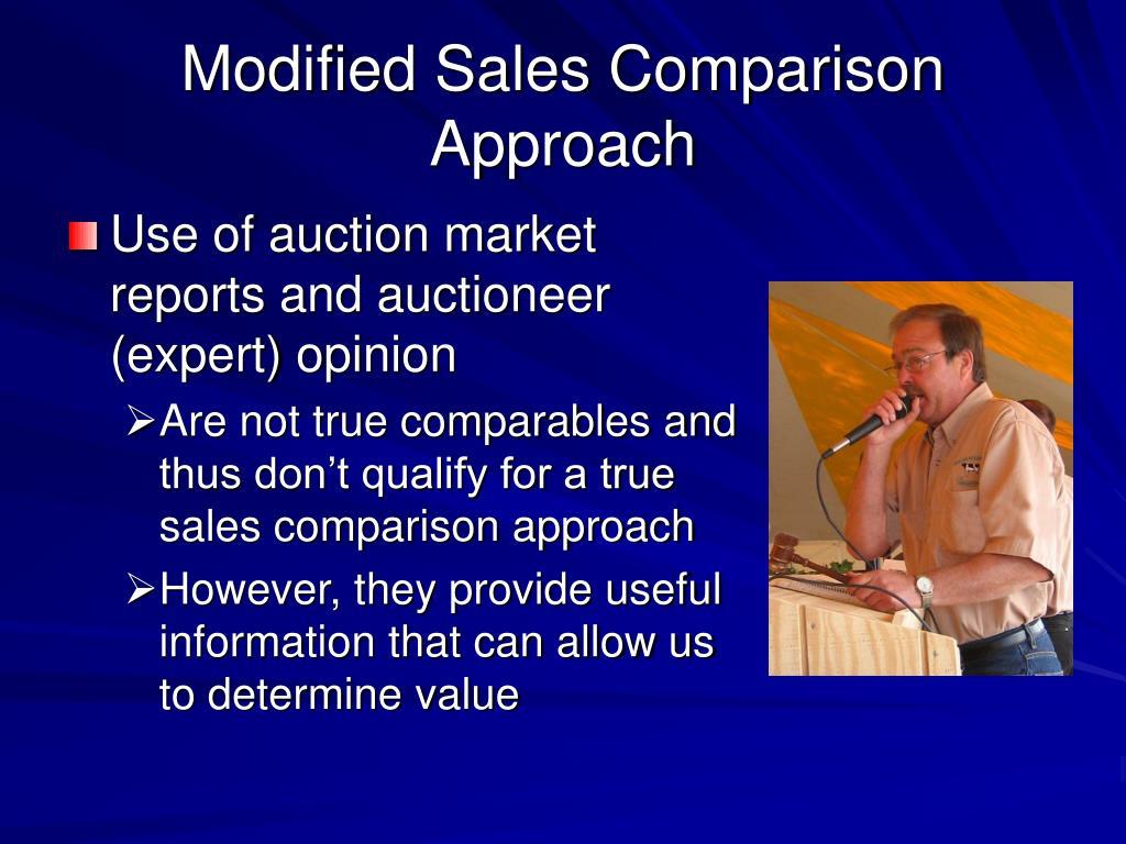 Modified Sales Comparison Approach