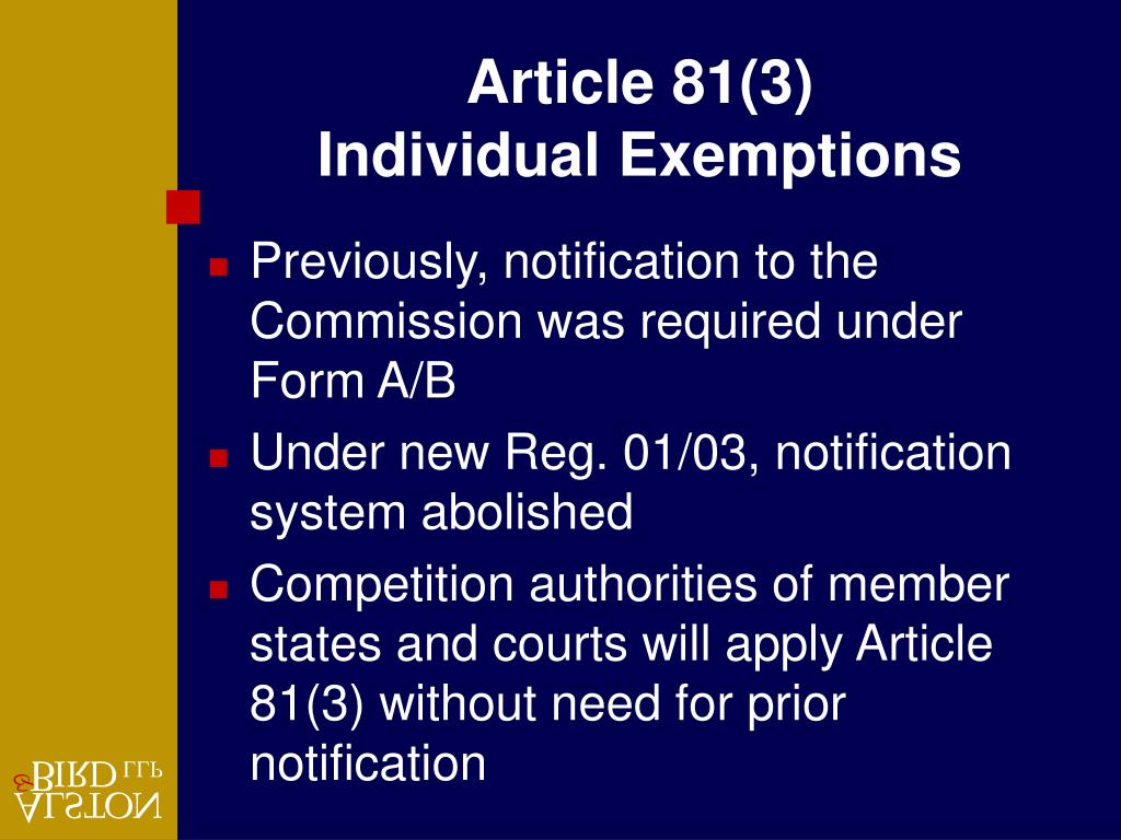 Article 81(3)