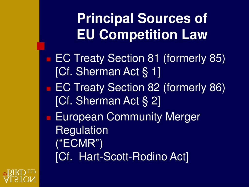 Principal Sources of