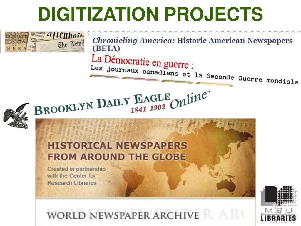 DIGITIZATION PROJECTS