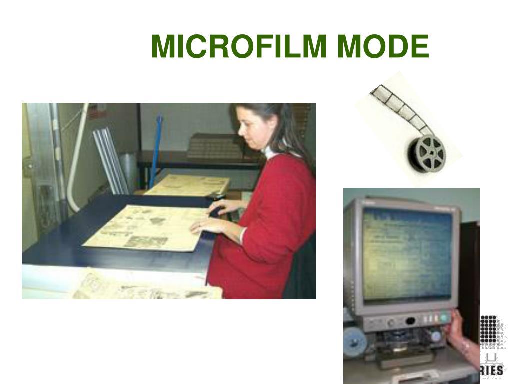 MICROFILM MODE